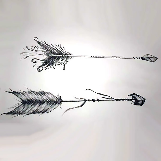 Best Arrow Tattoo Sketch Tattoo Design