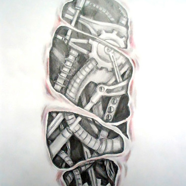 Biomechanical Under Skin Tattoo