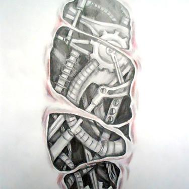 Biomechanical Under Skin Tattoo