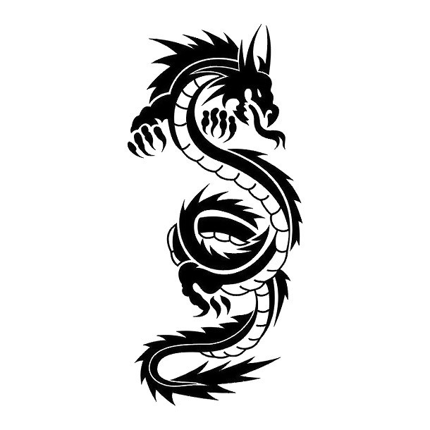Black Chinese Dragon Tattoo Design
