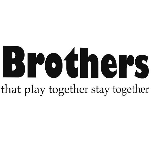 Brothers That Play Together Stay Together Tattoo Design