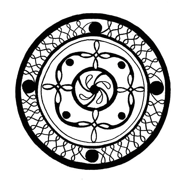 Celtic Triskele Circle Tattoo Design