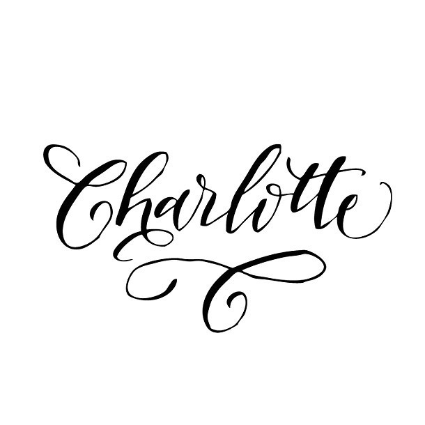 Charlotte Name Tattoo Design