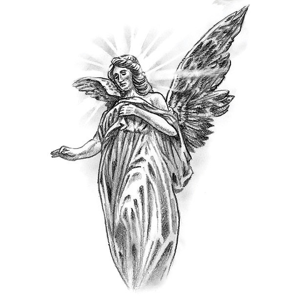 Christian Angel Tattoo Design