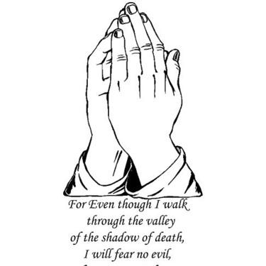 Christian Prayer Psalm 23:4 Tattoo