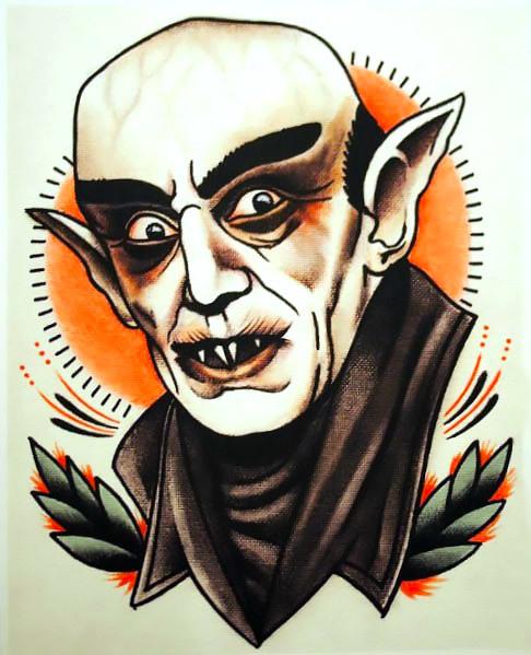 Classic Horror Tattoo Art Tattoo Design