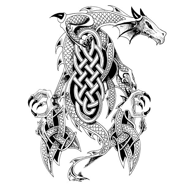 Cool Celtic Dragon Tattoo Design