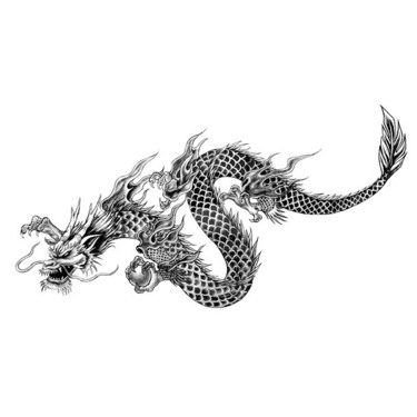 Cool Chinese Dragon Tattoo