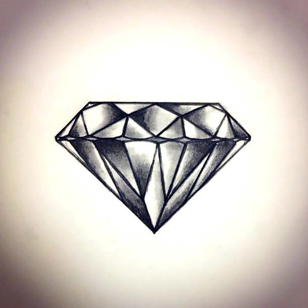 Cool Diamond Tattoo Design