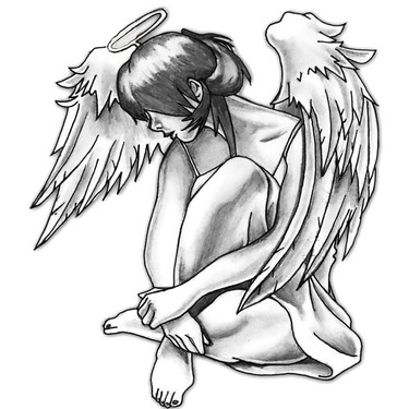 Cute Angel Girl Tattoo