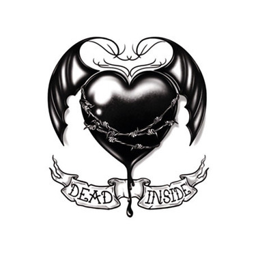 Dead Inside Black Heart Tattoo