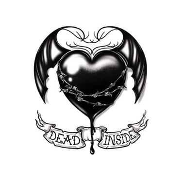 Dead Inside Black Heart Tattoo