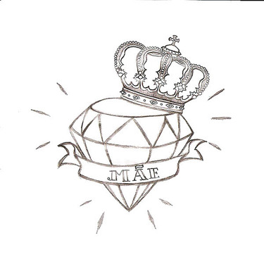 Diamond In Crown Tattoo