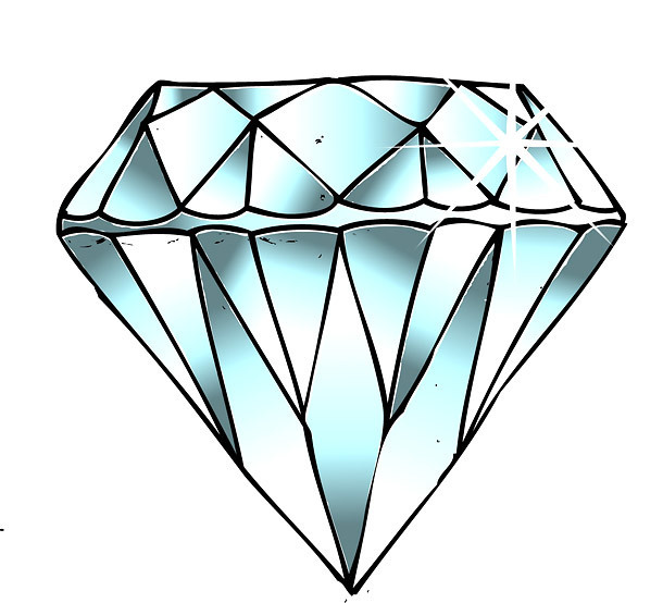 Diamond Tattoo Sketch Tattoo Design