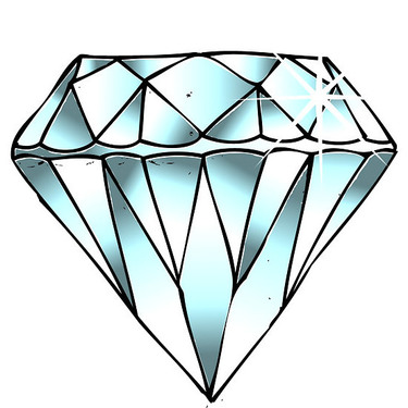 Diamond Tattoo Sketch Tattoo
