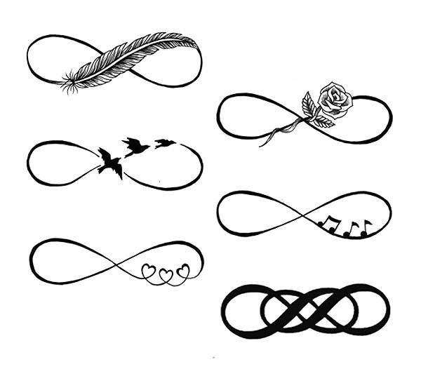 Different Infinity Tattoo Sketches Tattoo Design