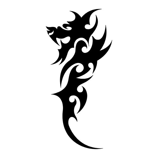 Easy and Small Chinese Dragon Tattoo Design