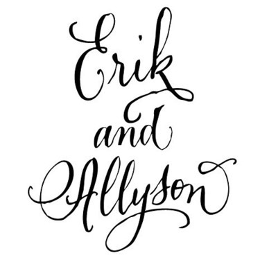Erik and Allyson Names Tattoo