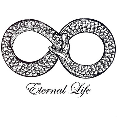 Eternal Life Infinity Snake Tattoo