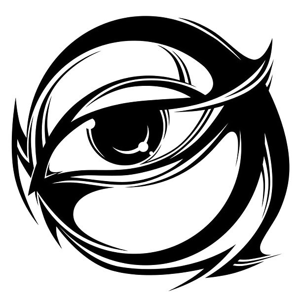Creative Eye In Circle Tattoo Design