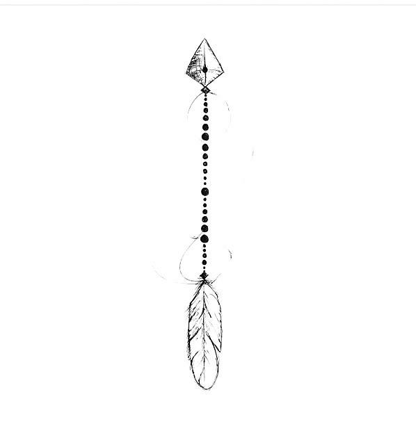 Fine Line Arrow Tattoo Design