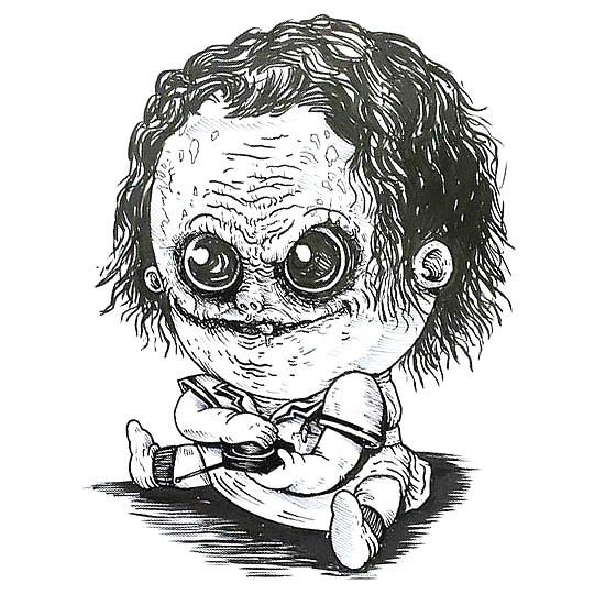 Funny Baby Joker Tattoo Design