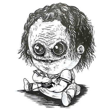 Funny Baby Joker Tattoo