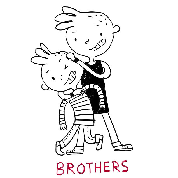 Funny Brothers Tattoo Design