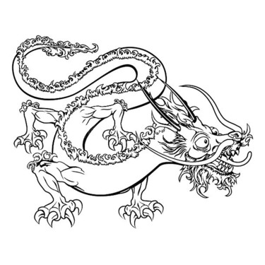 Funny Chinese Dragon Tattoo