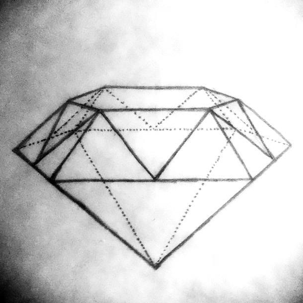 Geometric Diamond Tattoo Design