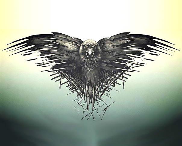 Gothic Three Eyed Raven Tattoo Design