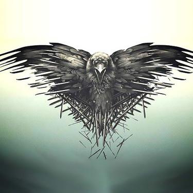 Gothic Three Eyed Raven Tattoo