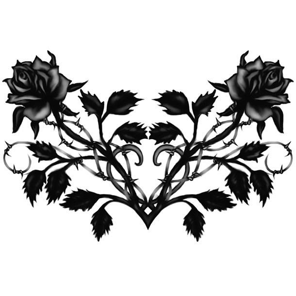 Gothis Black Roses Tattoo Design