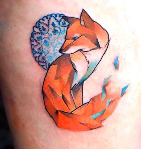 Beautiful Fox Tattoo Idea