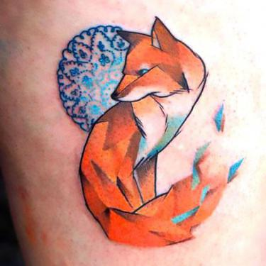 Beautiful Fox Tattoo