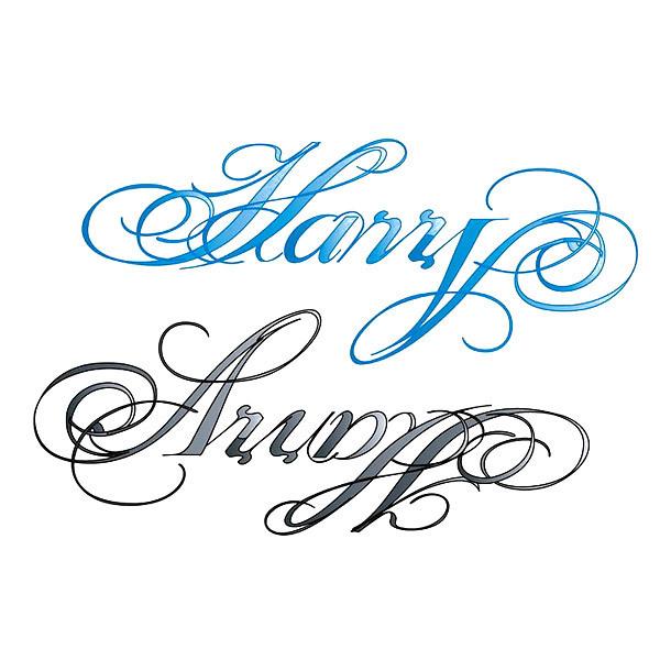 Harry Name Tattoo Design