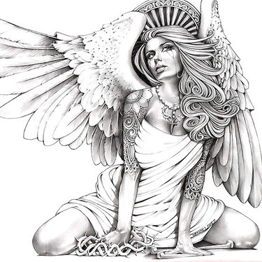 Horny Angel Tattoo