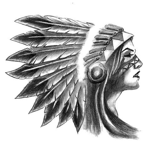 Indian Girl Tattoo Design