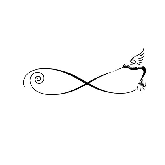 Infinity Symbol Hummingbird Tattoo Design