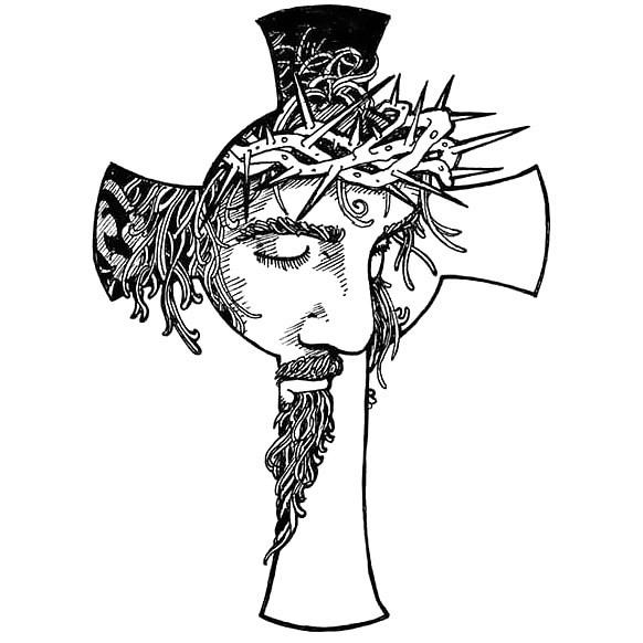 Jesus Cross Tattoo Design