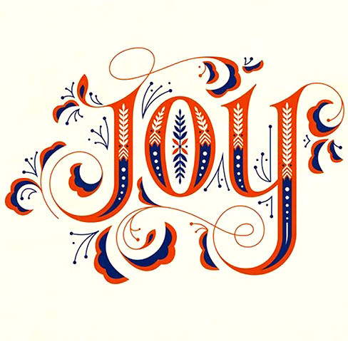 Joy Name Tattoo Design