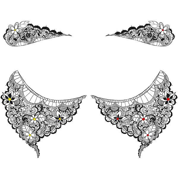 Lace Garter Tattoo Design