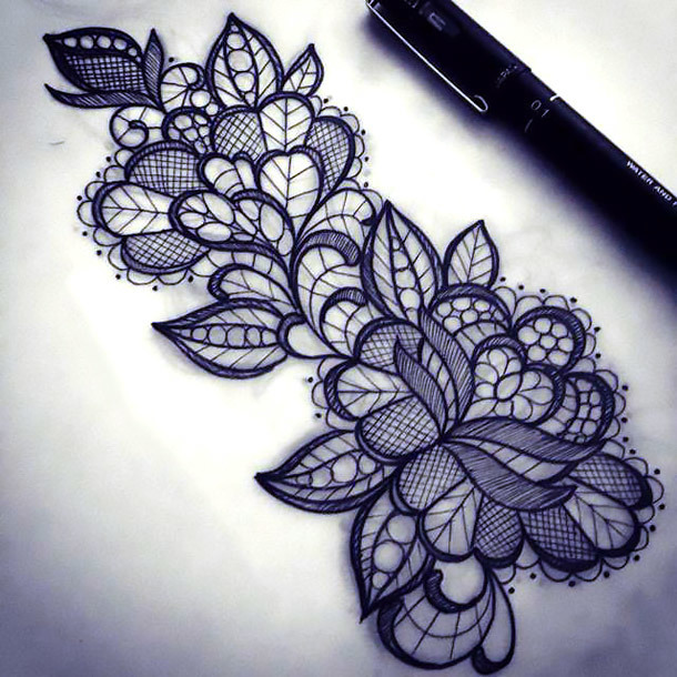 Lace Pattern Tattoo Design