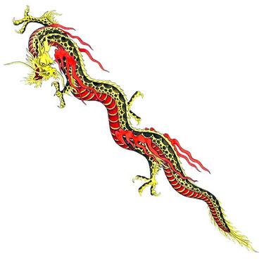 Long Chinese Dragon Tattoo