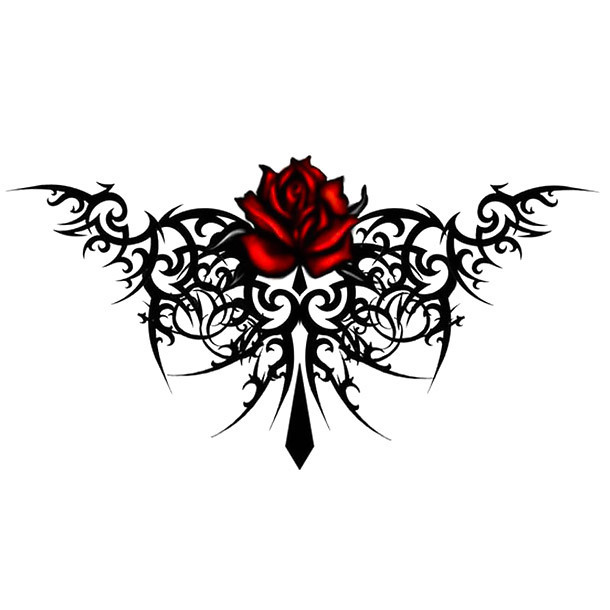 Lower Back Gothic Tattoo Design