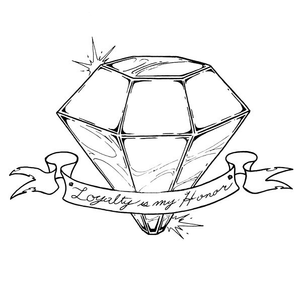 Loyalty Is My Honor Diamond Tattoo Design