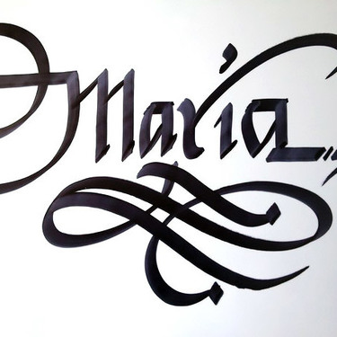 Maria Name Tattoo