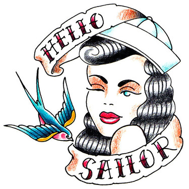 Nautical Hello Sailor Tattoo