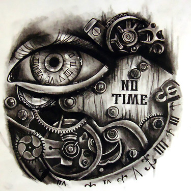 No Time Steampunk Tattoo