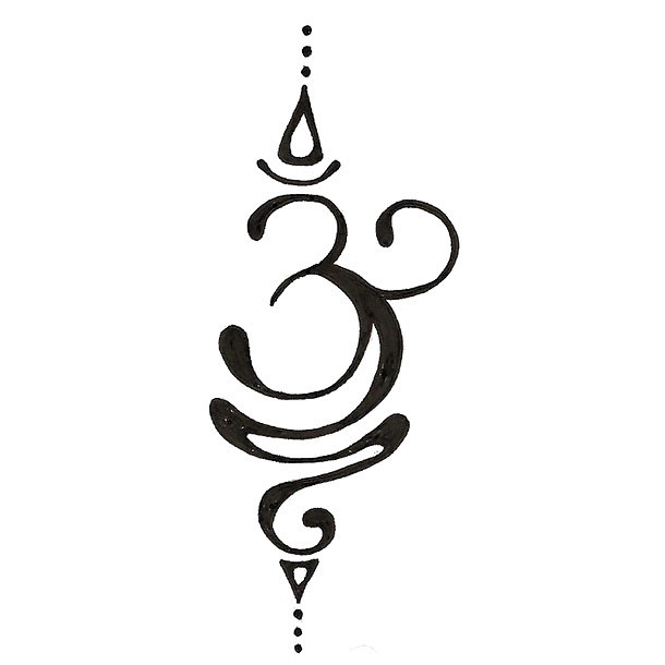 Om Change Symbol Tattoo Design